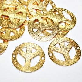 Conector símbolo de la paz dorado