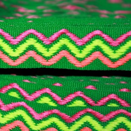 Cinta étnica verde 16mm (edición limitada)