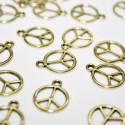 Símbolo paz dorada BOLSA 20 UNIDADES