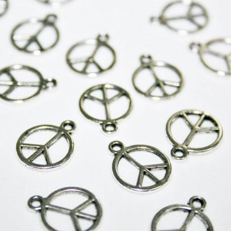Símbolo paz plateada BOLSA 20 unidades