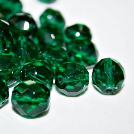 Facetada Checa 12mm verde esmeralda