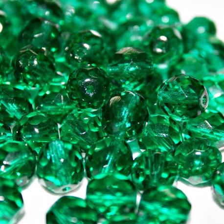 Facetada Checa 10mm verde esmeralda