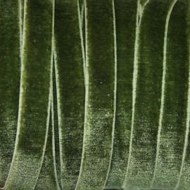 Terciopelo ELASTICO verde oliva oscuro