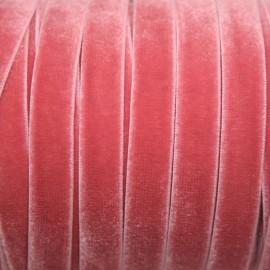 Terciopelo ELASTICO rosa vintage