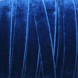 Terciopelo ELASTICO azul marino