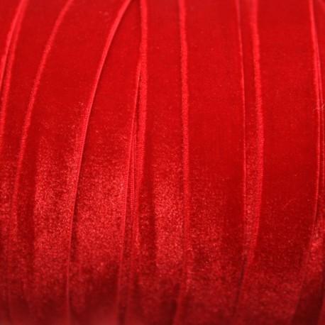 Terciopelo ELASTICO rojo