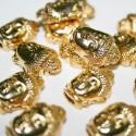 Cierre cabeza de buda imán dorado