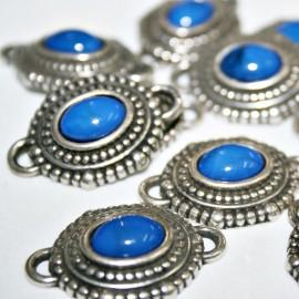 Conector Boho resina azul