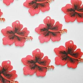 Hibiscus acrílico pequeño