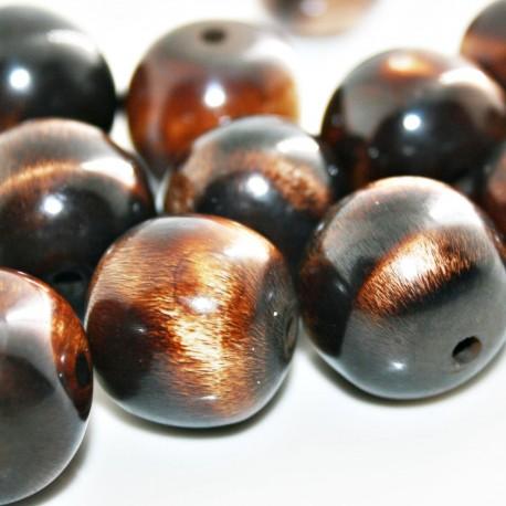 Bola asta de cuerno marrón grande