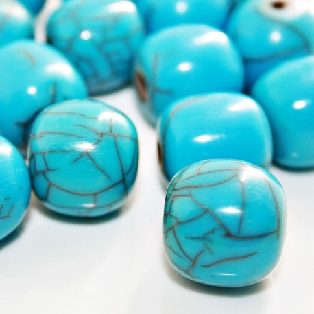Bola de resina turquesa