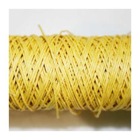 Hilo algodón rústico 0,5mm amarillo