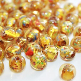 Bola de cristal con pan de plata amarilla