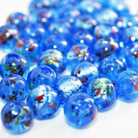 Bola de cristal con pan de plata azul