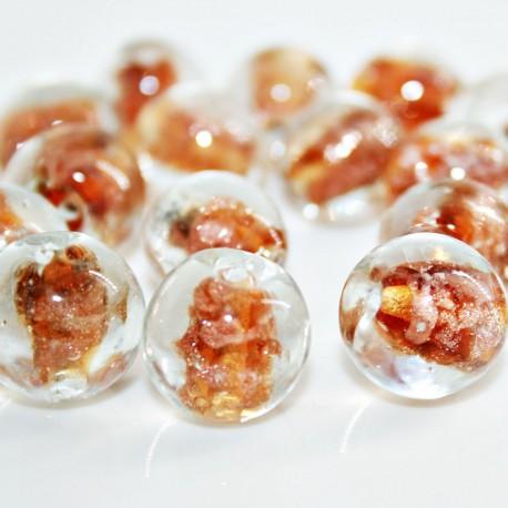 Bola de cristal con destellos dorados