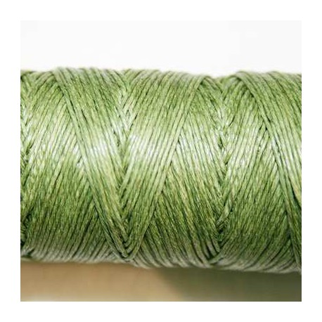 Hilo algodón rústico 0.5mm verde oscuro