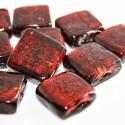 Cristal cuadrado en color rojo