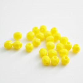 Facetada Checa 4mm amarillo mate BOLSA 96 UNIDADES