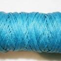 Hilo algodón rústico azul  0.5mm