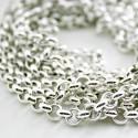 Cadena bañada en plata, alta calidad 5mm
