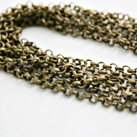 Cadena de eslabón redondo bronce 4mm