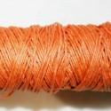 Hilo algodón rústico naranja 0.5mm