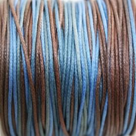 Hilo algodón multicolor en azules