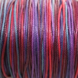 Hilo algodón multicolor en morados