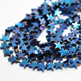 Estrellas metalizadas azules x 40 unidades