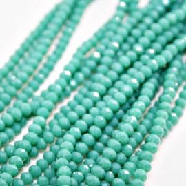 Tira cristal facetado turquesa verdoso