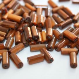 Madreperla cilindro marrón