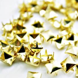 Tacha cuadrada pequeña dorada x 20 unidades