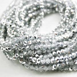 Tira cristal facetado plata