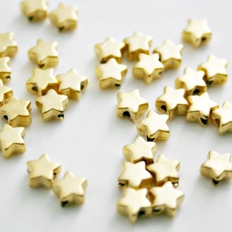 Estrella baño de oro mate