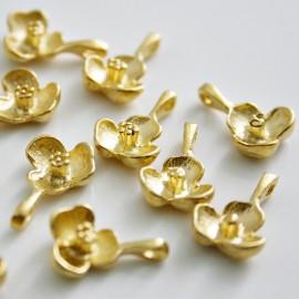 Flor baño de oro mate