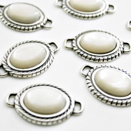 Conector resina oval crema