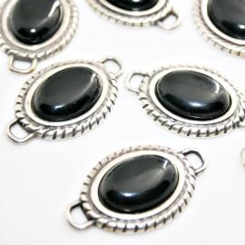 Conector resina oval negro