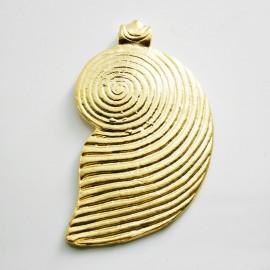 Caracola baño de oro mate