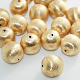 Bola grande baño de oro mate