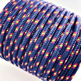 Cordón de paracord de 3mm azul marino bandera