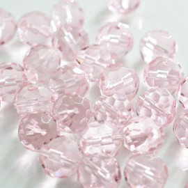Cristal facetado rosa 14mm oferta x 5 unidades