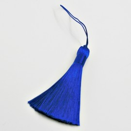 Borla o pompón grande azul