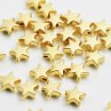 Estrella pasante baño de oro mate