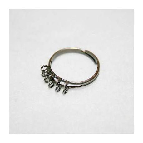 Anillo anillas plata vieja chico