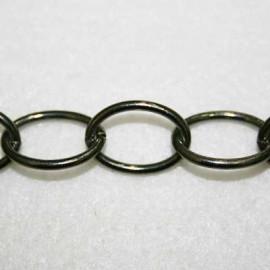 Cadena pavonada oval x metro