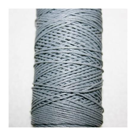 Hilo algodón encerado gris  de 1mm x 5 metros