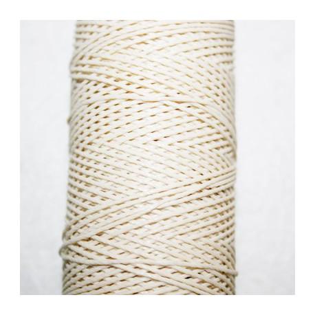 Hilo algodón encerado beige de 1mm x 5 metros