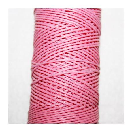 Hilo algodón encerado rosa de 1mm x 5 metros