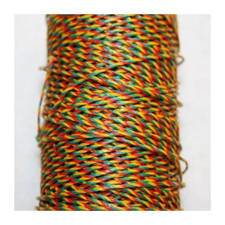 Hilo algodon encerado multicolor de 1mm x 5 metros