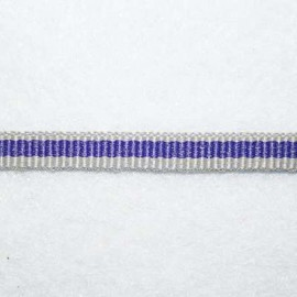 Cinta gros grain gris y violeta 5mm